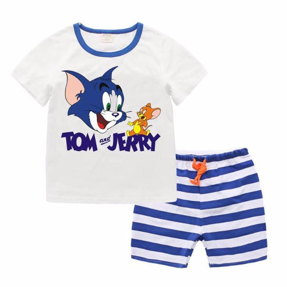 Adorable Tom & Jerry T Shirt and Bottom For Baby