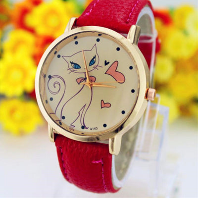 Cute Cat and Heart Cat Wrist Watch!