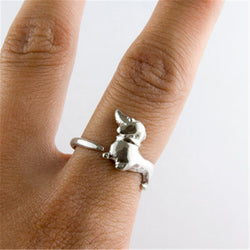 Charming Bassotto Dachshund Adjustable Dog Ring
