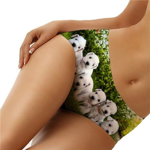 Puppy and Family Dog Print Underwear