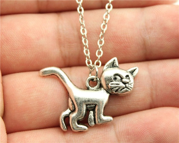 Antique Silver and Bronze Plated Lost Hello Kitty Necklace!