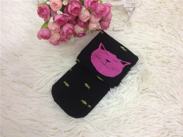 [Kids] Cute Smiling Kitty Cat Tights!