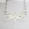 Adorable Heart and Dog Paw Necklace