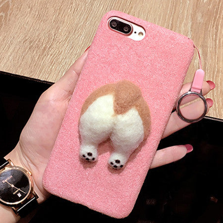 Wool Booty Dog iPhone Case