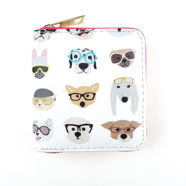 Pooch Style Mini Coin Dog Print Wallet