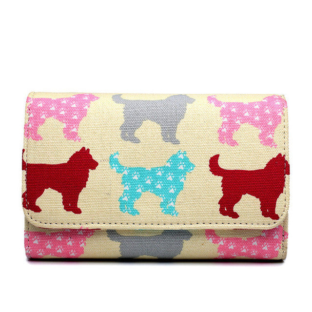 Cute Repeating Puppy Dog Print Wallet