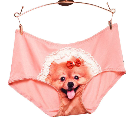 Happy Puppy Women Dog Print Underwear