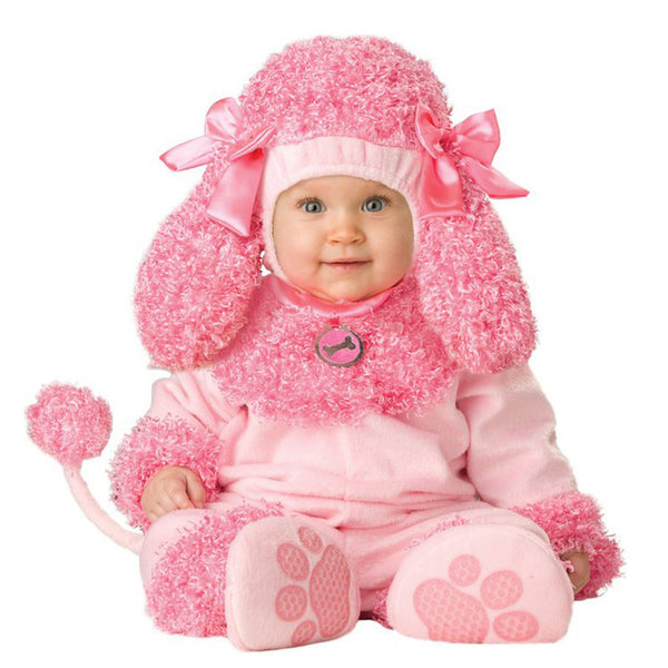 Cute Pink Dog Baby Outfit!