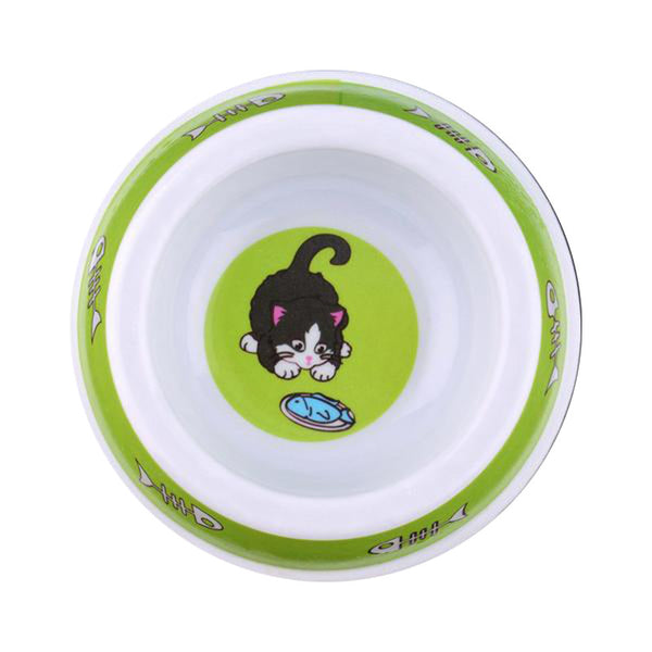 Cute Plastic Cat Feeding Bowls