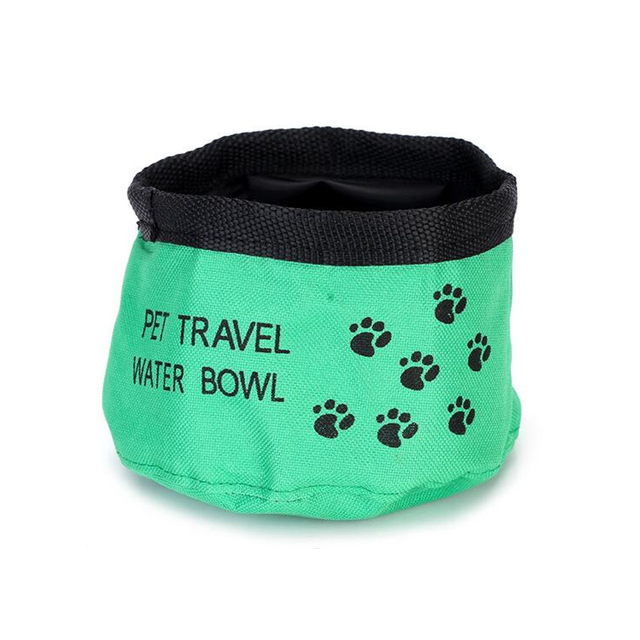 Paw Printed Portable Food Bowl For Dogs