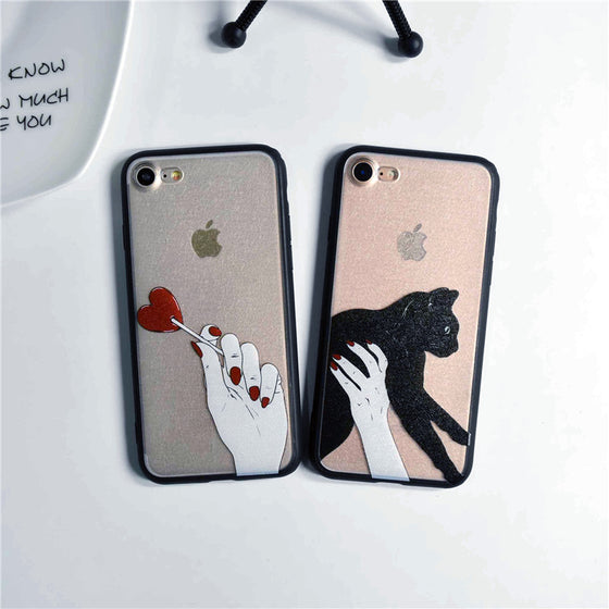 Love Silk Cat iPhone Case