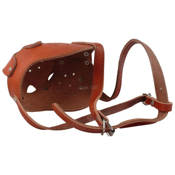 Dog Muzzle - Genuine Leather Dog Muzzle