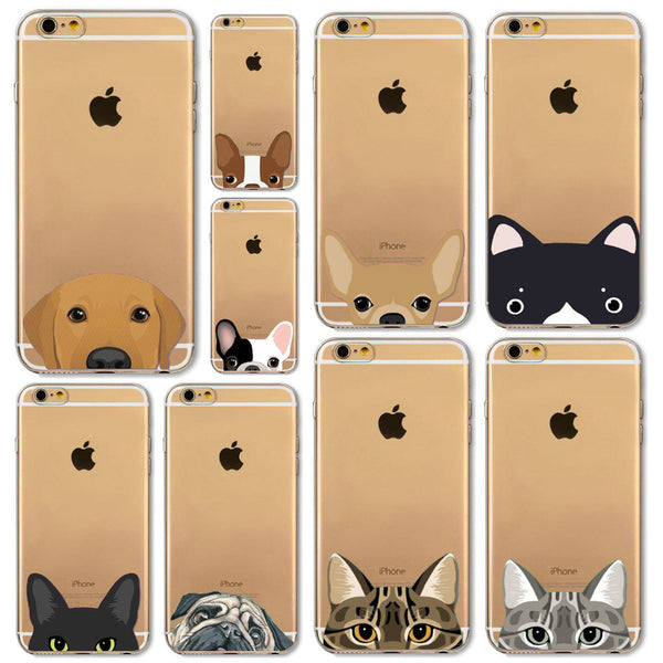 Cartoon Puppy and Kitten Dog Phone Cases