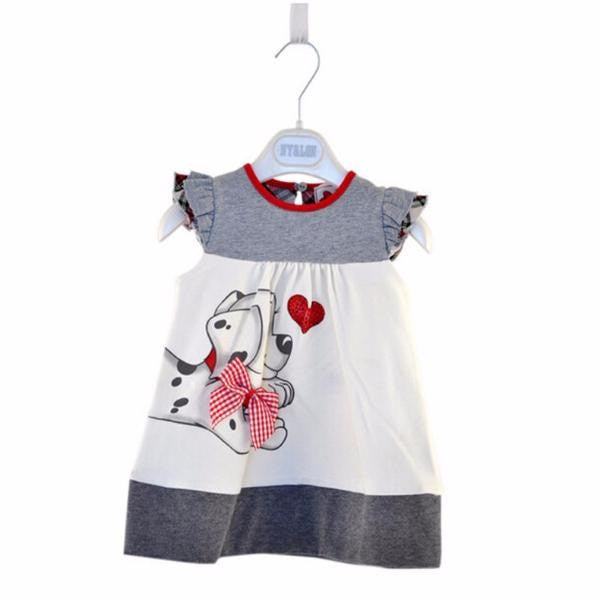 Toddlers A-Line Love Dog Baby Outfit