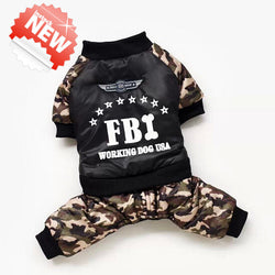 Warm FBI Dog Winter Jacket!