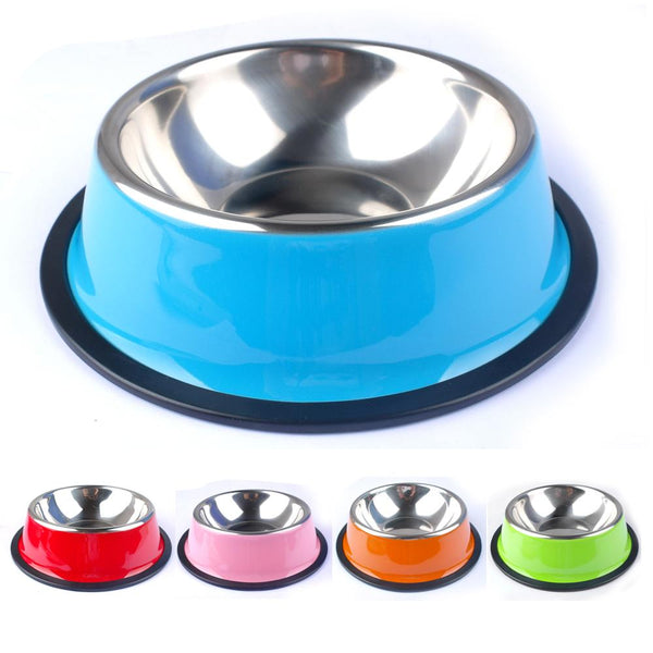 Colorful Stainless Steel Cat Feeding Bowls