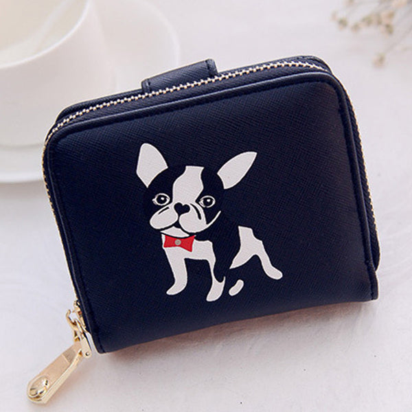 Pug Short Dog Print Wallet