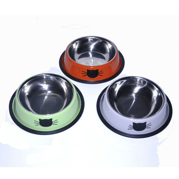 High-End Colorful Stainless Steel Cat Feeding Bowls