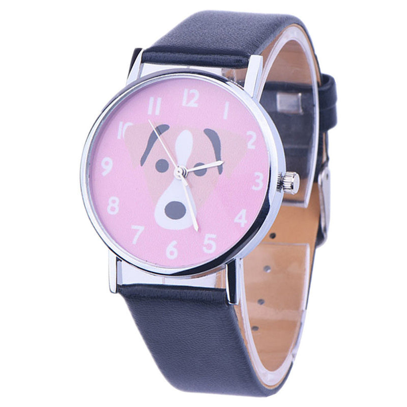 Cute Pink Face Puppy Dog Wrist Watch
