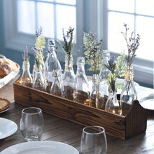 Rustic Boxed Bottle Tabletop Centerpiece