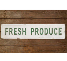 Vintage Embossed Metal Fresh Produce Sign