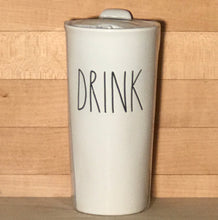 New Rae Dunn DRINK Travel Tumbler Mug with Lid