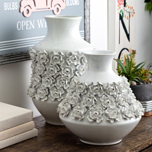 HUGE Bella White Floral Vase