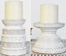 LARGE Chunky Glazed Ceramic Candle Holders, Set of 2