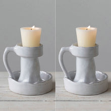 Terracotta Tealight Candle Holders with Handles, Set of 2