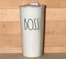 New Rae Dunn BOSS Travel Tumbler Mug with Lid