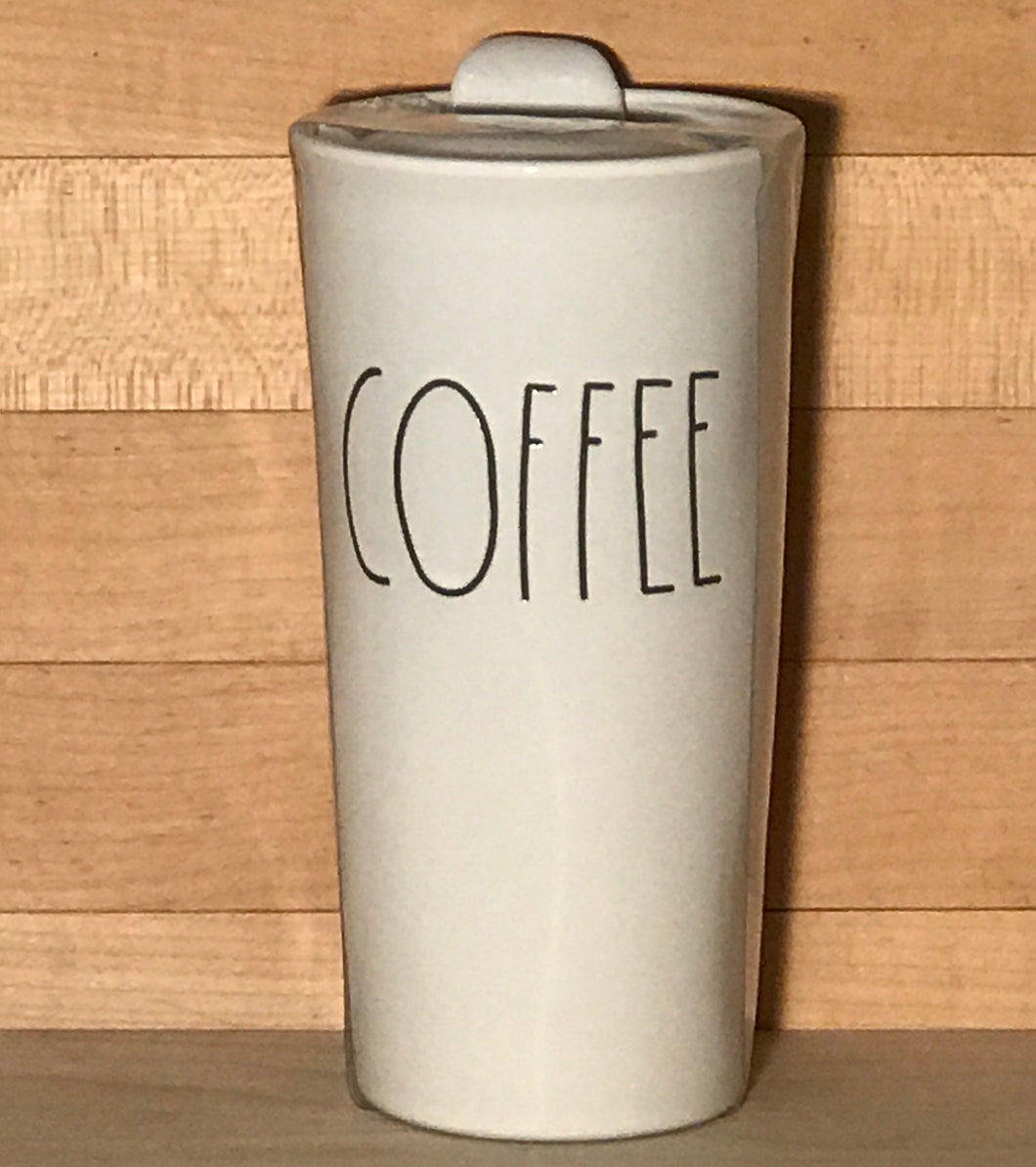 New Rae Dunn COFFEE Travel Tumbler Mug with Lid