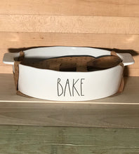 New Rae Dunn BAKE Casserole Dish with Wooden Spoon