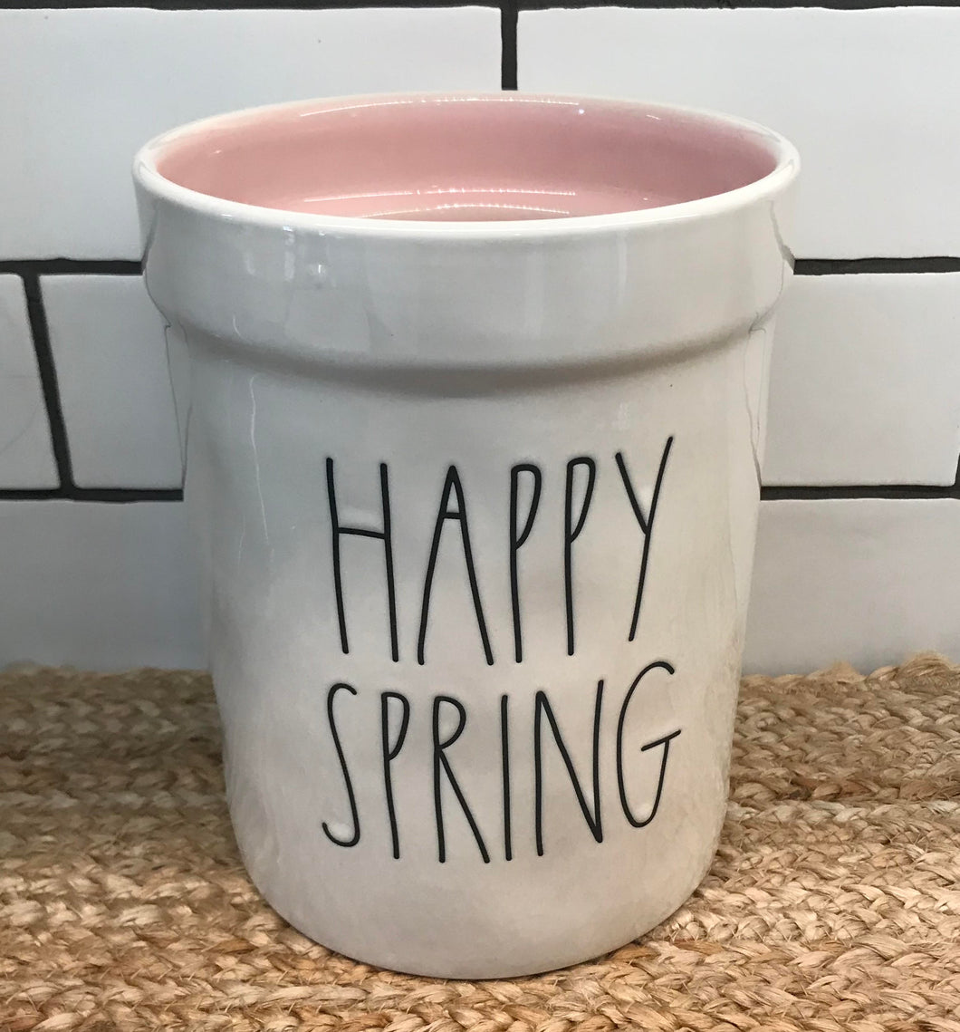 New Rae Dunn HAPPY SPRING Tools Canister