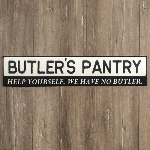 Vintage Embossed Metal Butler's Pantry Sign