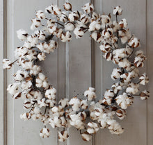"Large Cotton Wreath, 26"" Diameter"