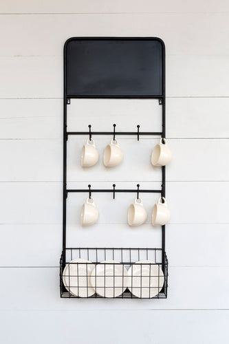 Bistro Wall Rack with Chalkboard