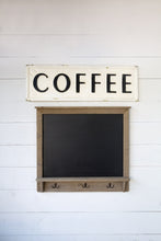 "Vintage Embossed Metal ""Coffee"" Sign"