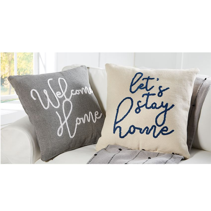 Let's Stay Home Boucle Pillow