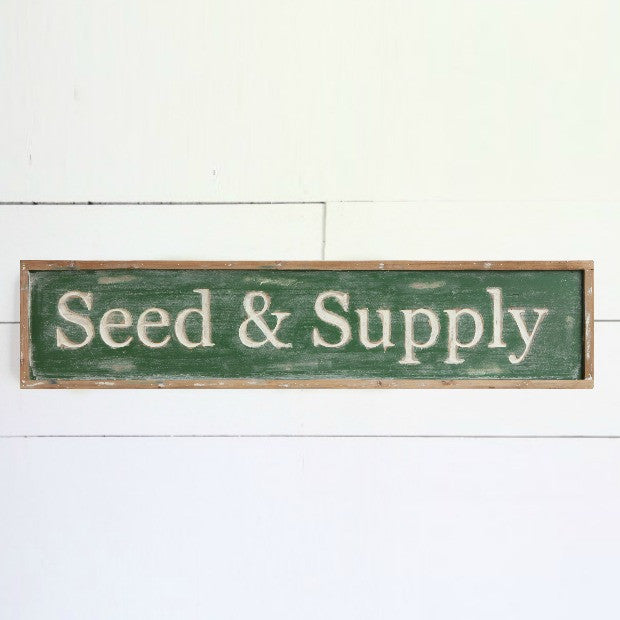 Framed Wood Seed & Supply Wall Decor