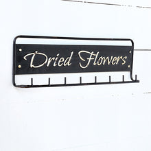 Dried Flowers Metal Hanging Rack with Hooks