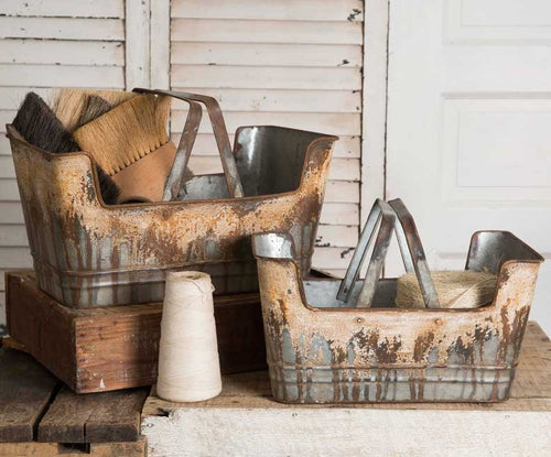 Rustic Shopping Baskets, Set of 2