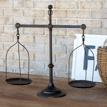 Decorative Iron Balance Scale with Bird Topper