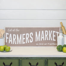 Wood Plank Framed Farmers Market Sign
