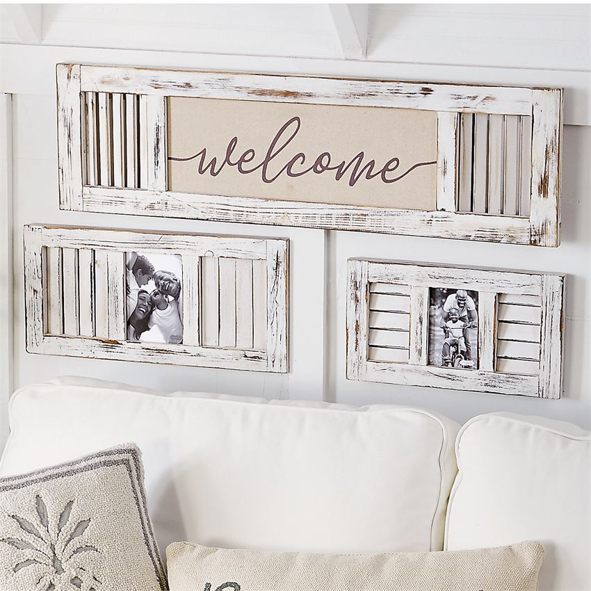 Welcome Shutter Wall Art