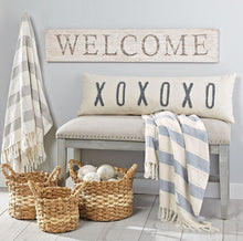 XOXOXO Washed Canvas LOOONG Pillow