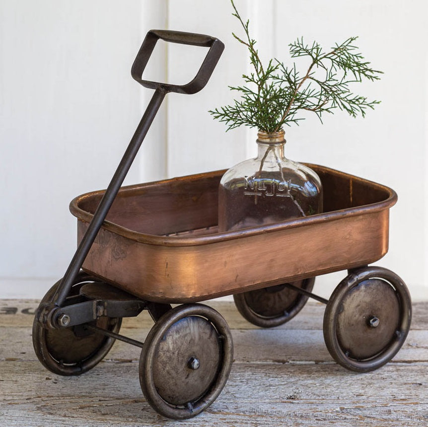 Vintage Style Copper Finish Wagon
