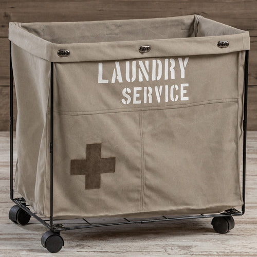 LARGE Laundry Service Rolling Laundry Cart
