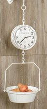 Vintage Style White Grand Hotel Hanging Scale Clock