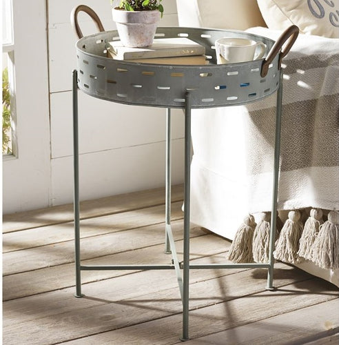 Tin Perforated Tray Table