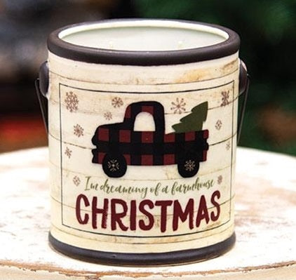 Dreaming of a Farmhouse Christmas Candle Crock